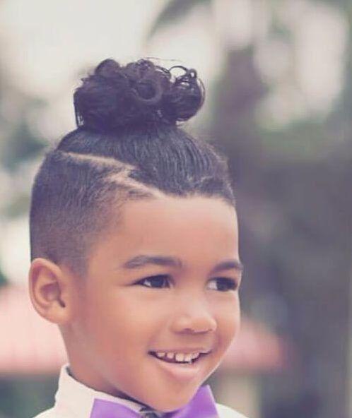 Boy Bun Man Bun Hairstyles Little Boy Hairstyles Man Bun Haircut