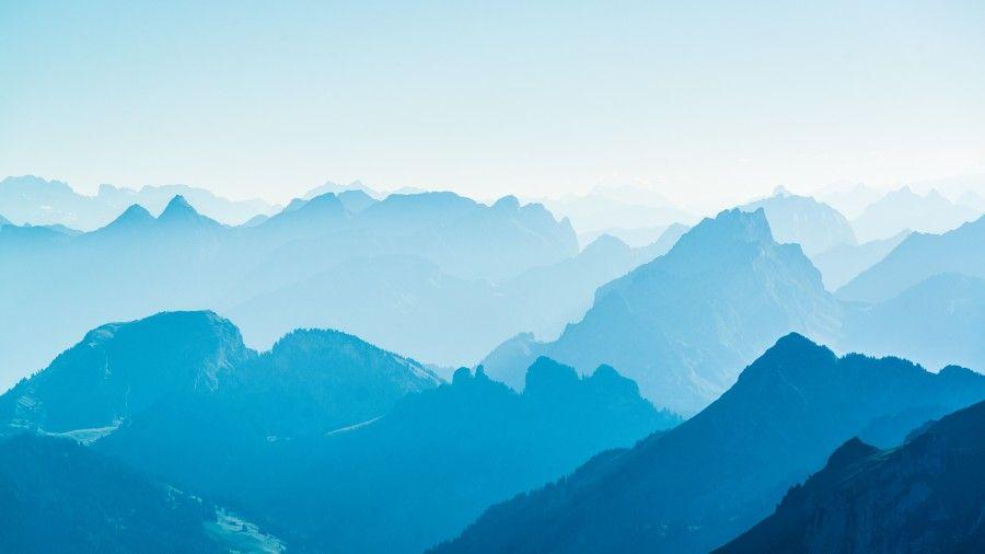 Blue Mountain Range Desktop Wallpaper Mountain Wallpaper Nature Wallpaper Blue Mountain