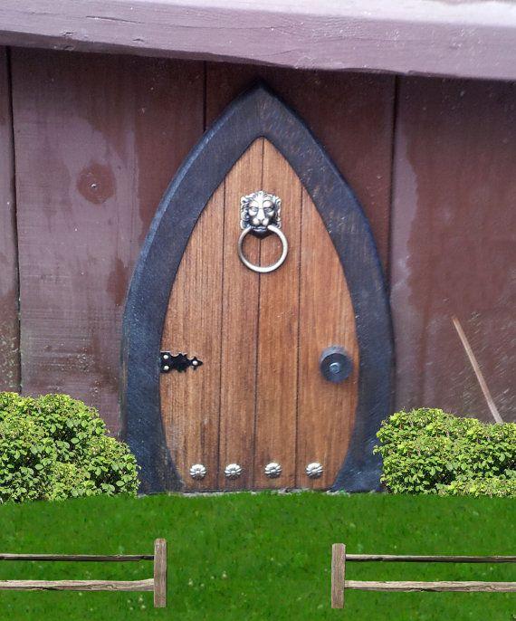 Fairy Doors Gnome doors Faerie Doors Elf Doors 12 inch lion knocker. & Fairy Doors Gnome doors Faerie Doors Elf Doors 12 inch lion knocker