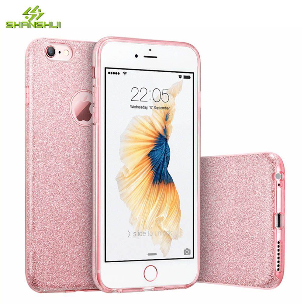 Iphone 6 6s 7 Plus Luxury Glitter Case Cute Girl Lady Rose Gold