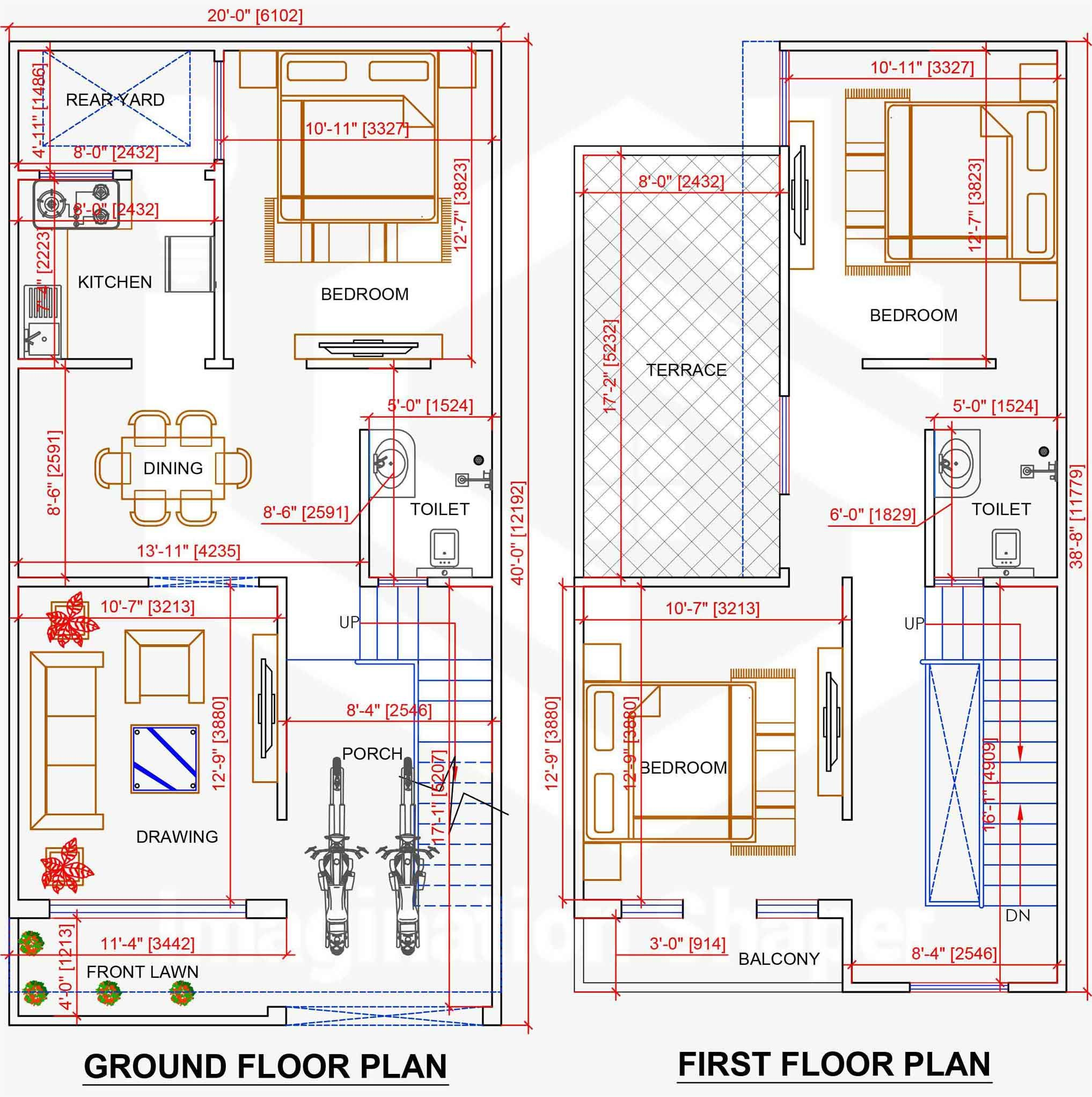 20x40 Home Plan Flat House Design House Map Home Design Floor Plans