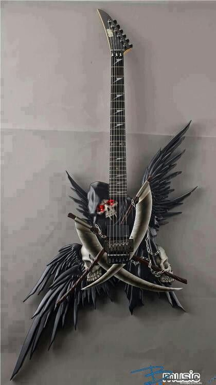 awesome dark angle warrior guitar they are depicted as more human than as evil fallen angels. Black Bedroom Furniture Sets. Home Design Ideas