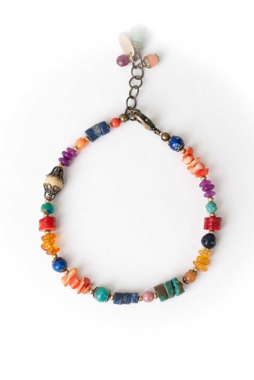 10mm Orange Aventurine Semi-Precious Gemstone Bracelet
