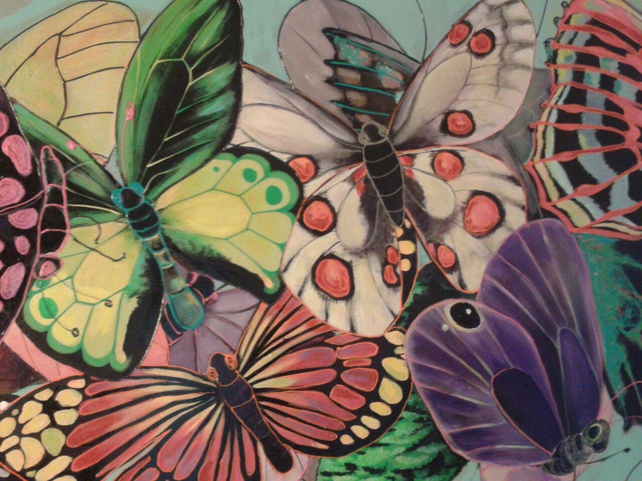 Butterfly ...olio acrilico vernici
