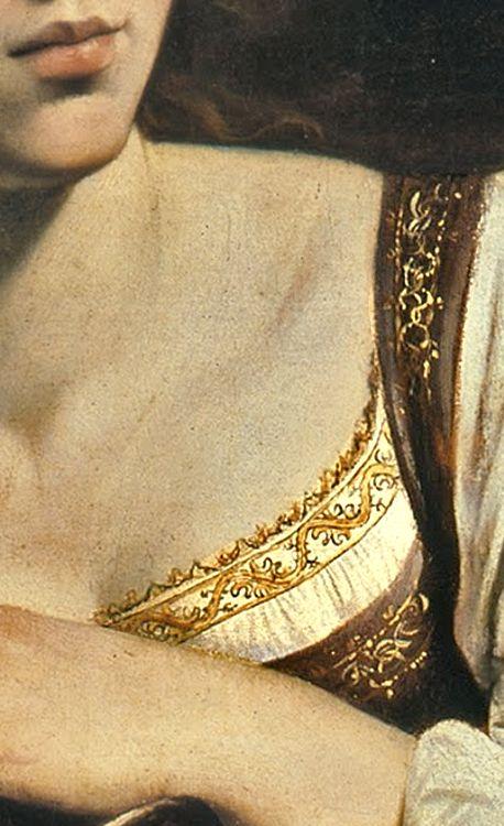 Caravaggio, Saint Catherine. 1598, detail