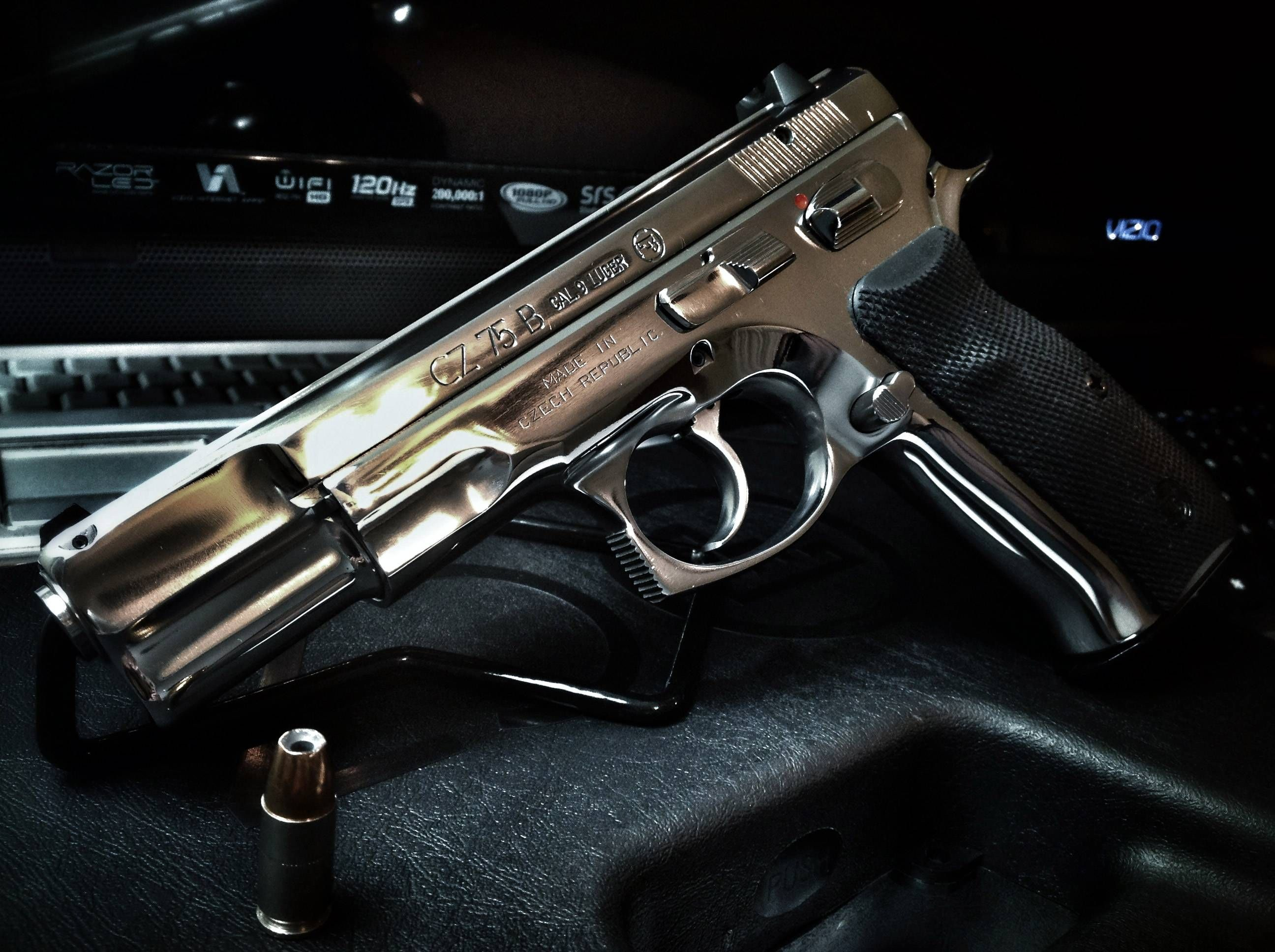 CZ 75 B Polished Stainless w/Federal Premium 135gr hollow points