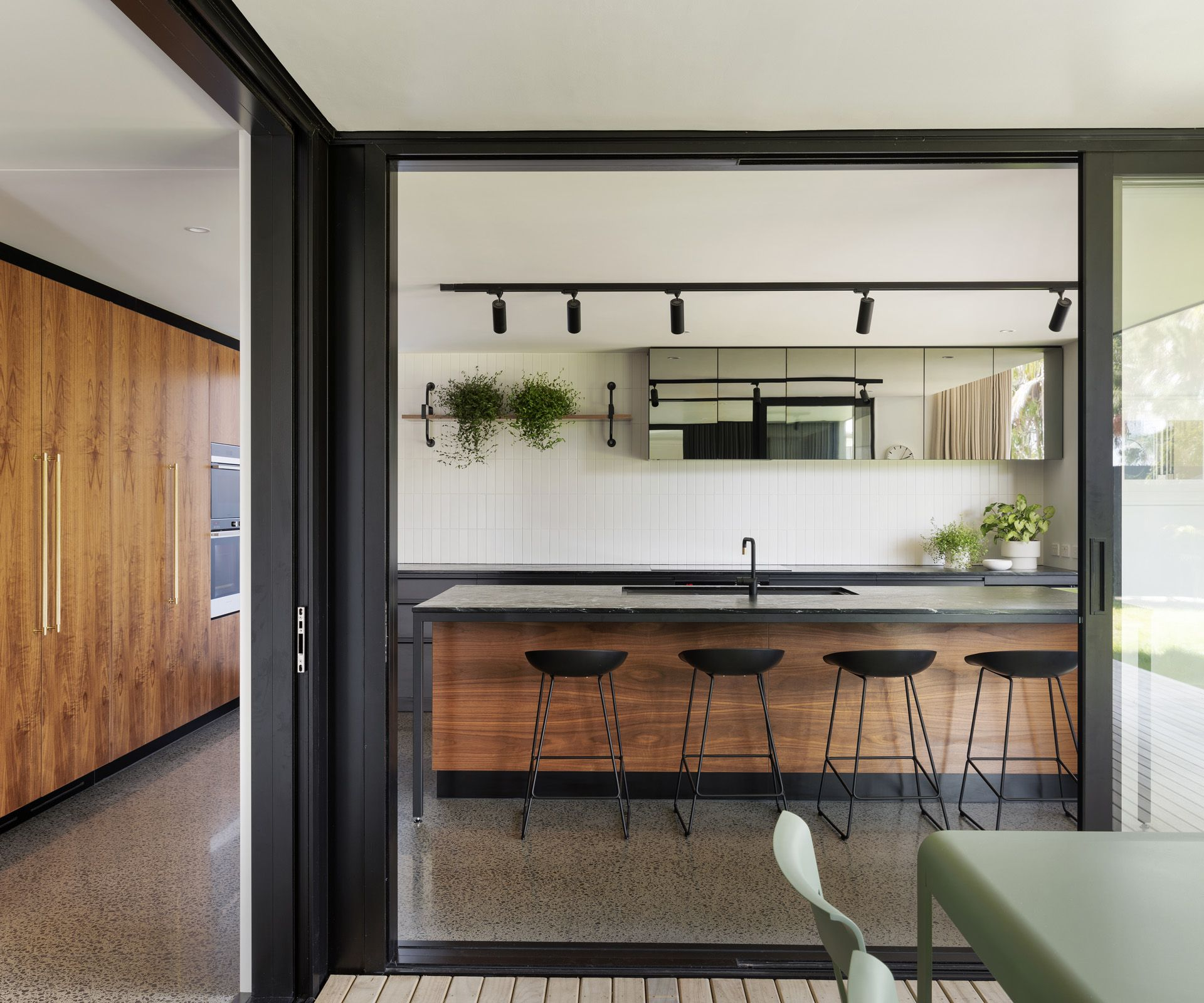 This Grey Lynn kitchen has the most sophisticated material