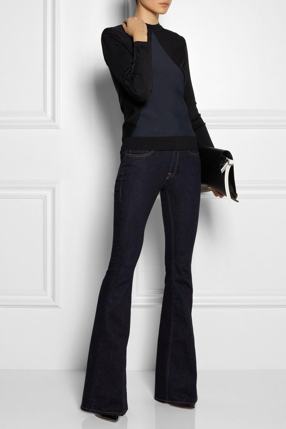 Victoria Beckham Denim - Mid-rise flared jeans