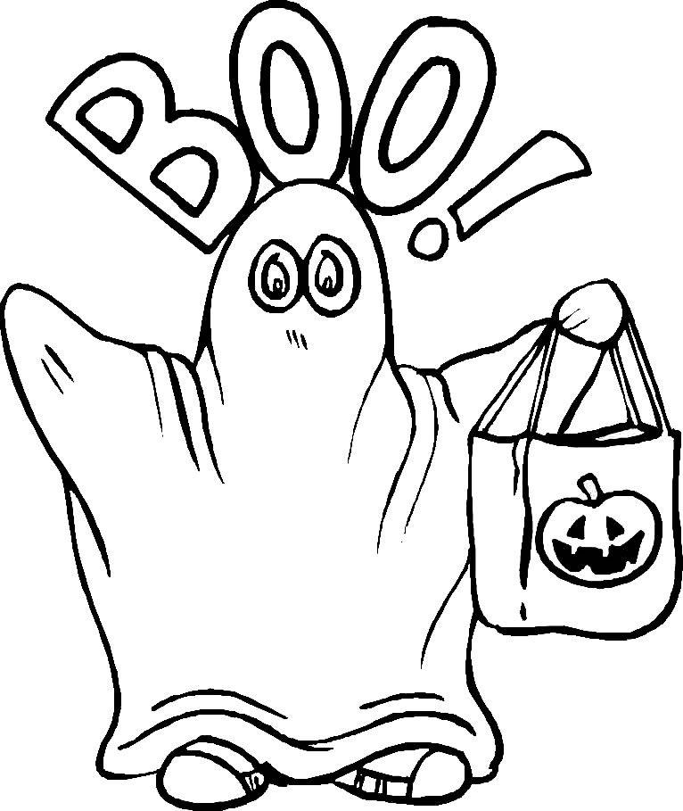 Planse Desene De Colorat Halloween Fantome Halloween