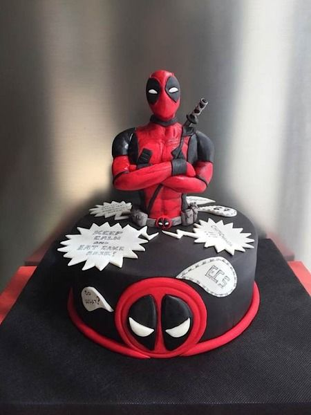 Sunday Sweets To Marvel Over With Images Deadpool Cake Marvel