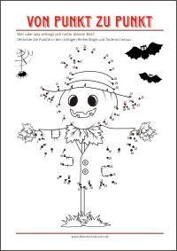 ausmalbilder halloween - von punkt zu punkt als gratis pdf-vorlagen zum ausdrucken | rätsel zum