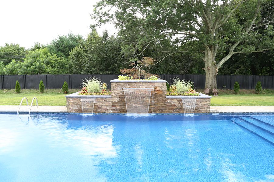 Formal Water Features Aquatic Artists Pool Waterfalls Nj Pa