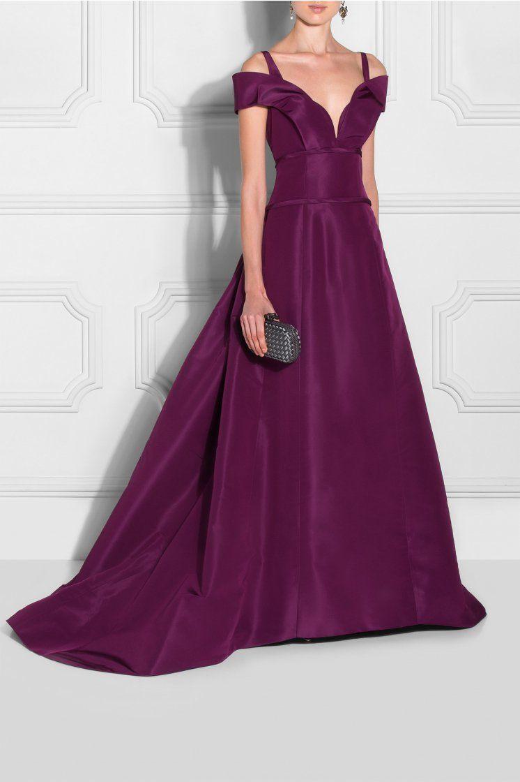 Purple Off-Shoulder Evening Gown | Ball Gowns | Pinterest | Carolina ...