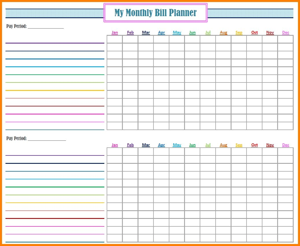 Bill Payment Spreadsheet Excel Templates Papillon Nor