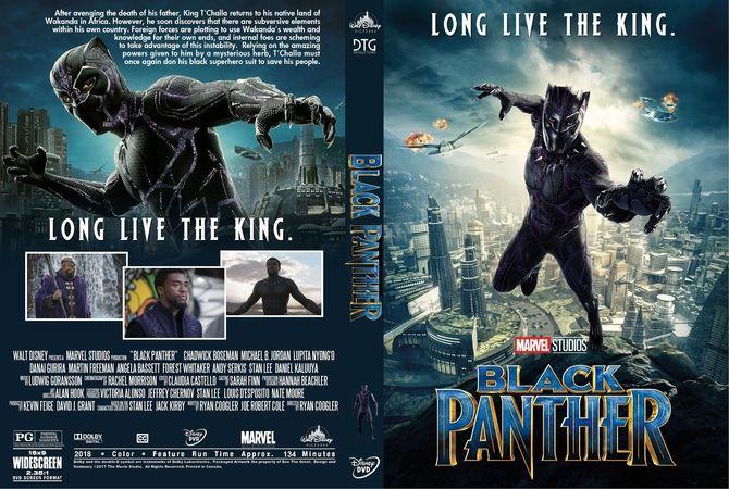Black Panther 2018 Dvd Custom Cover Art En 2019 Pinterest