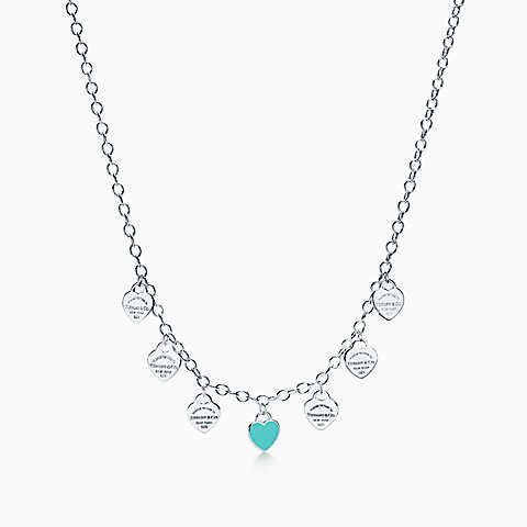b757469c9 Return to Tiffany® multi-heart tag necklace in sterling silver, mini ...