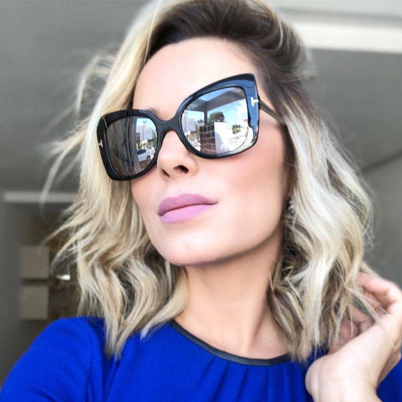 74dcc5b815fc Luxury Oversized Cat Eye Sunglasses Women Shades Vintage 2018 Brand Sun  Glasses Goggle Men Fashion T