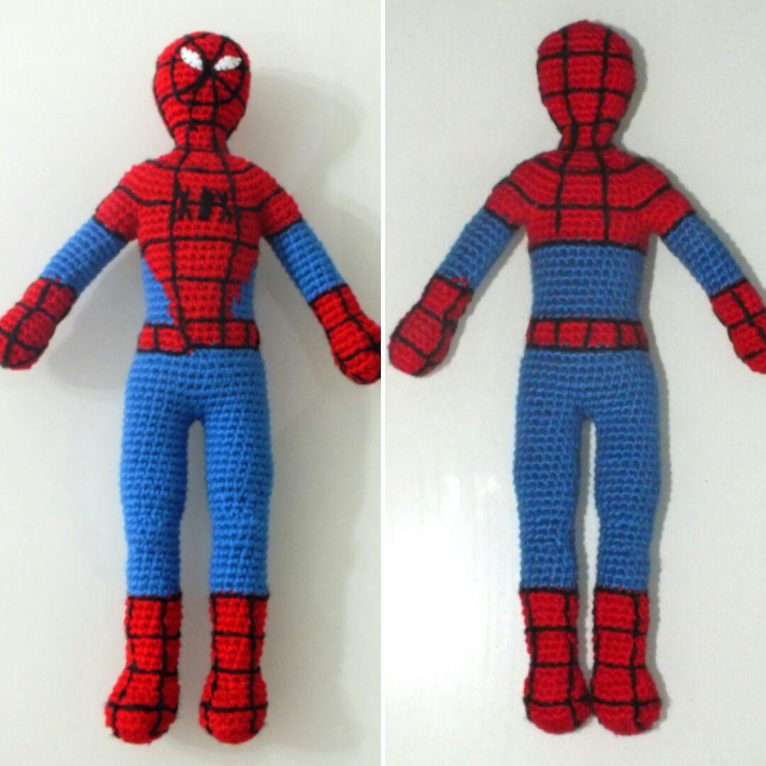 Free Spiderman Amigurumi Crochet Pattern : Amigurumi Spiderman / Amigurumi ?r?mcek Adam amigurumi ...