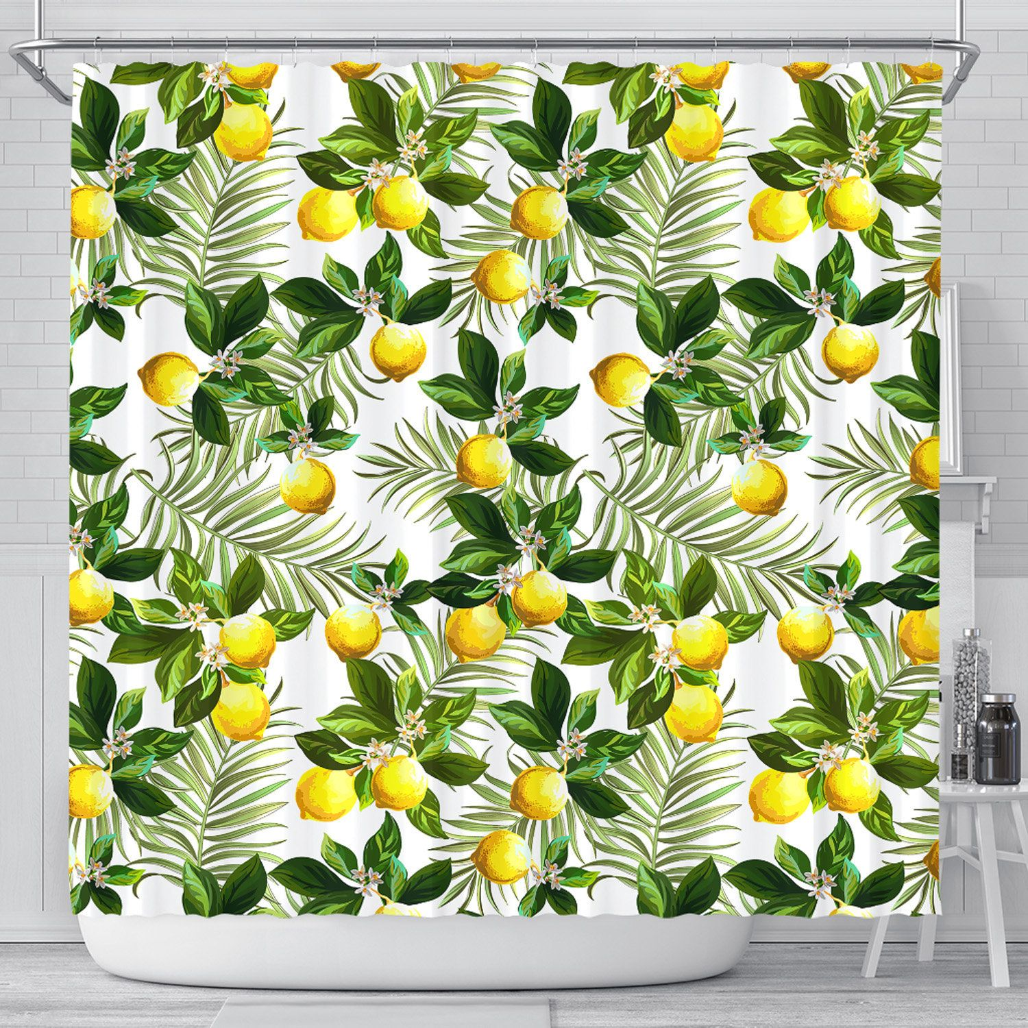 Lemon Shower Curtain Citrus Shower Curtains Lemons Bathroom