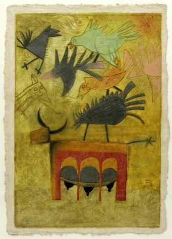 Teodulo Romulo Mexican B 1943 Intaglio Print