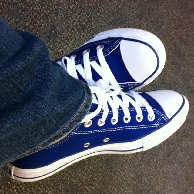 30f46959027c after wedding ceremony shoes....Royal Blue Converse All-Stars ...