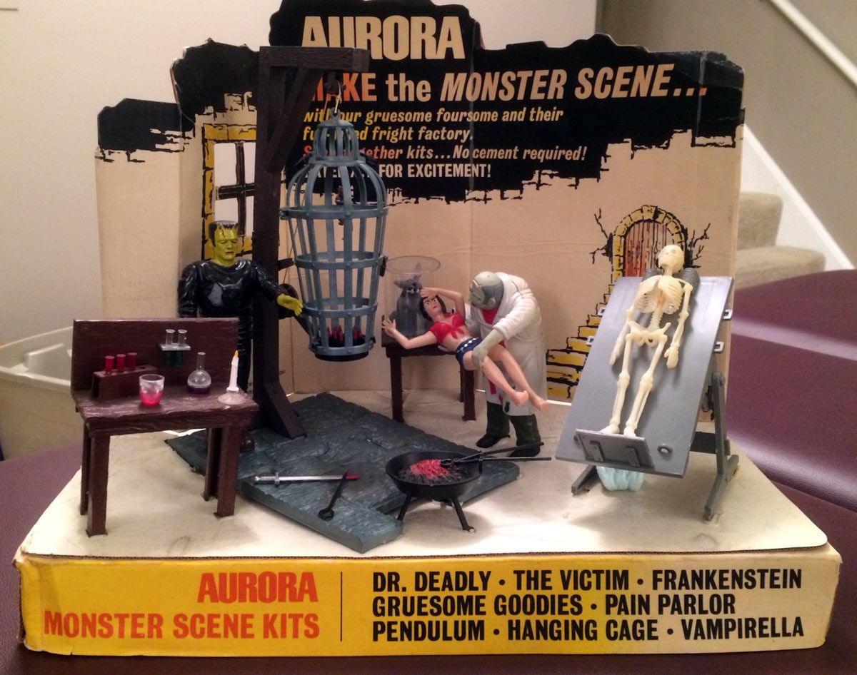 Aurora Monster Scenes Store Display!   Monster Toys   Retro