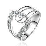 SunIfSnow Beautifully Neutral Popular Classic and Elegant Interlocking Ring 8 - http://howtomakeastorageshed.com/articles/sunifsnow-beautifully-neutral-popular-classic-and-elegant-interlocking-ring-8/