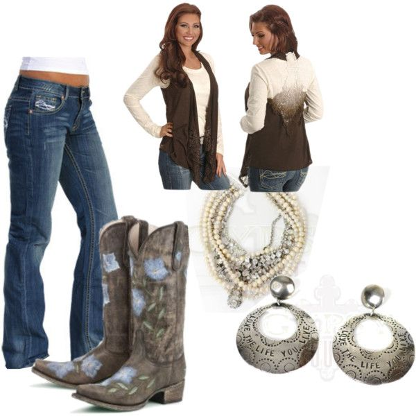 Unique Cowgirl Style, created by cowgirltuffcompany on Polyvore