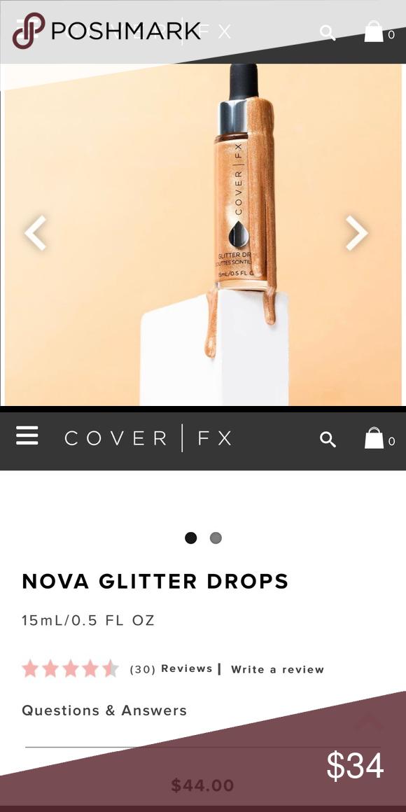 Cover fx nova glitter drops Cover fx, Sephora makeup