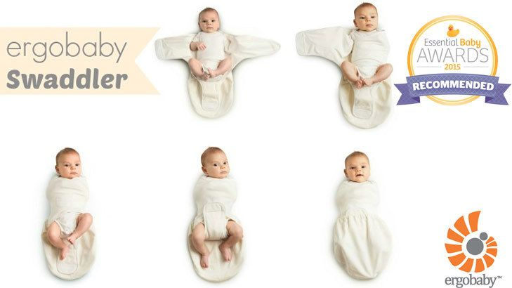 WellnessWednesday with  ergobaby  swaddle. This  lightweight  swaddler  helps  snuggle baby in for a longer more peaceful nights  sleep.