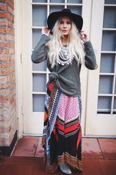 20 Winter Boho Outfit Ideas For Women · Inspired Luv   -   -  Boho chic is a st...,  #Boho #Chic #ideas #inspired #Luv #Outfit #Winter #winterwomendrawing #Women