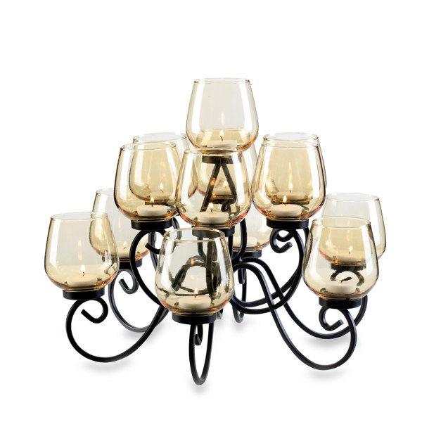 elements® 13 Light Tea Light Centerpiece - Bed Bath & Beyond ...
