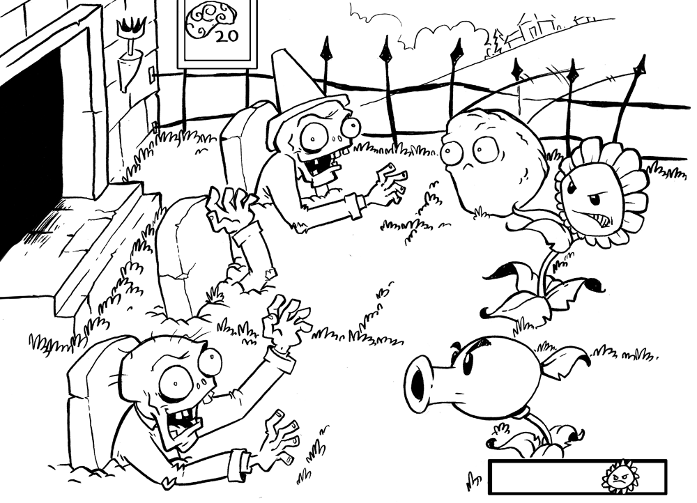plants vs zombies coloring pages | disegni x simone | Pinterest ...