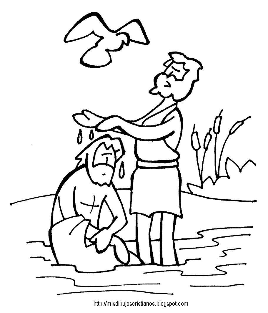 Free coloring page baptism of jesus - Bautizo De Jesus Baptism Of Jesus Coloring Page