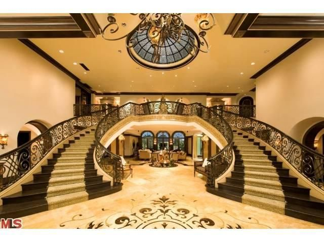 Best Foyer Double Staircase My Favorite Modern Architect 400 x 300