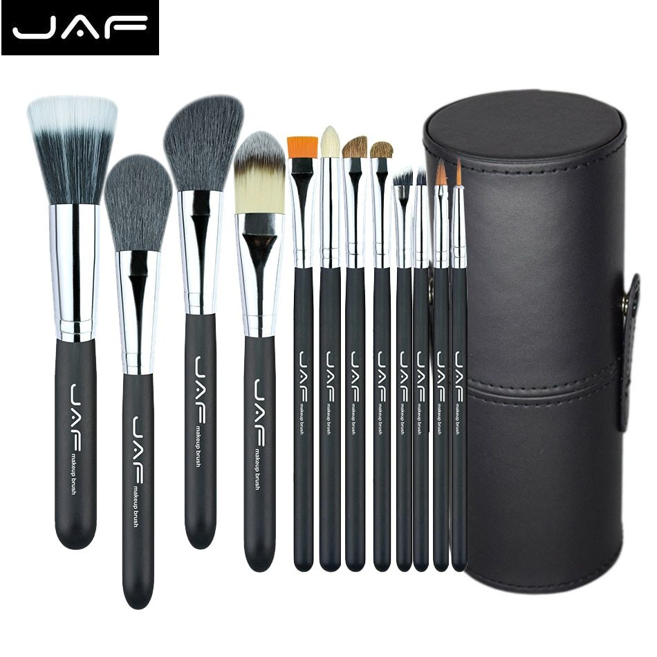 9f5bc6c73496 JAF Make Up Brushes 12Pcs Brush Set Professional Nature Bristle ...