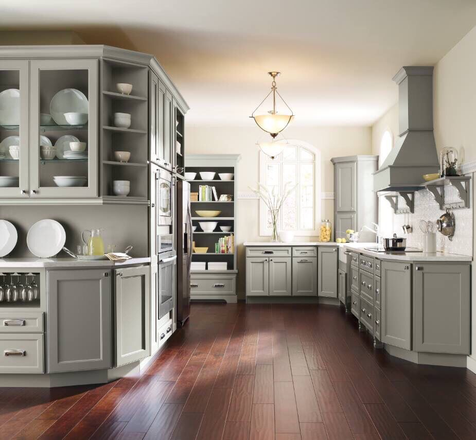 From Prosource Of Roanoke Grey Painted Cabinets Traditional Kitchen Design Grey Kitchen Cabinets New Kitchen Cabinets