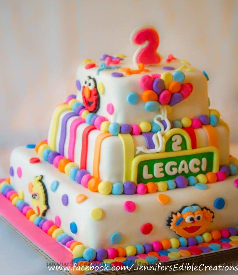 Sesame Street 2nd Birthday Cake Cake By Jennifers Edible