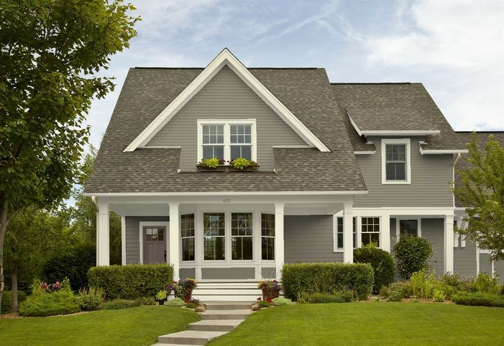 Benjamin Moore Copley Gray Exterior Exterior House Paint Color Combinations Best Exterior House Paint House Paint Color Combination