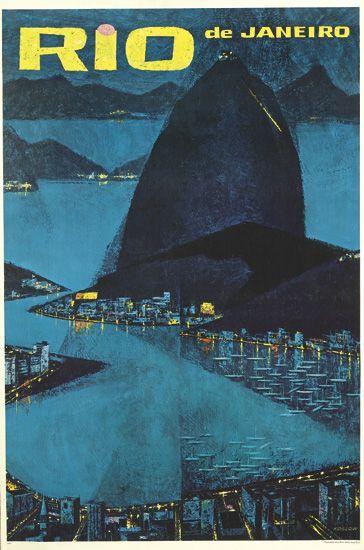 Rio De Janeiro Vintage Travel Posters Vintage Airline Posters Retro Travel Poster