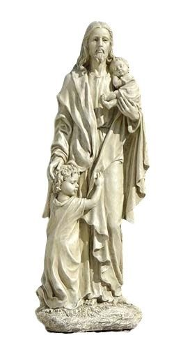 Jesus With The Little Children Garden Statue Christ Religious Figure  Christian