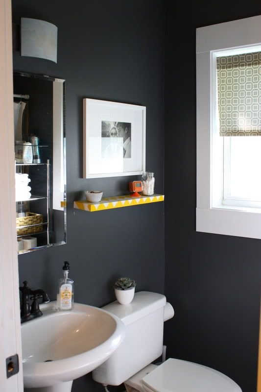 dark colored bathrooms another idea for our half bath never sure if such 12625