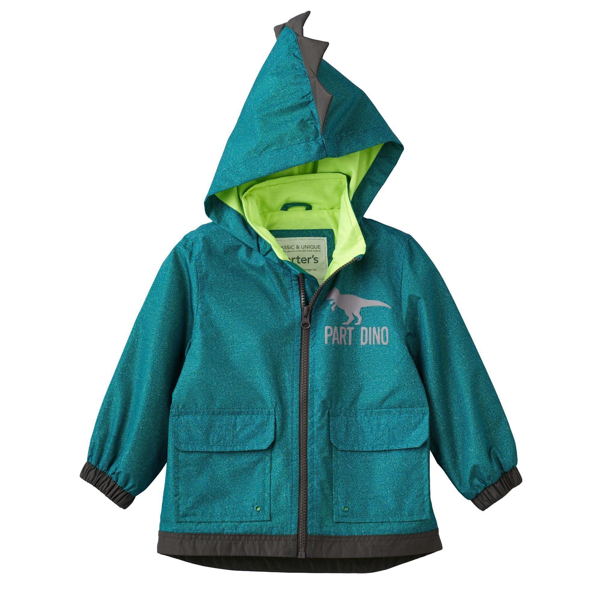 073fe6815e71 Baby Boy Carter s Lightweight Green Dino Rain Jacket