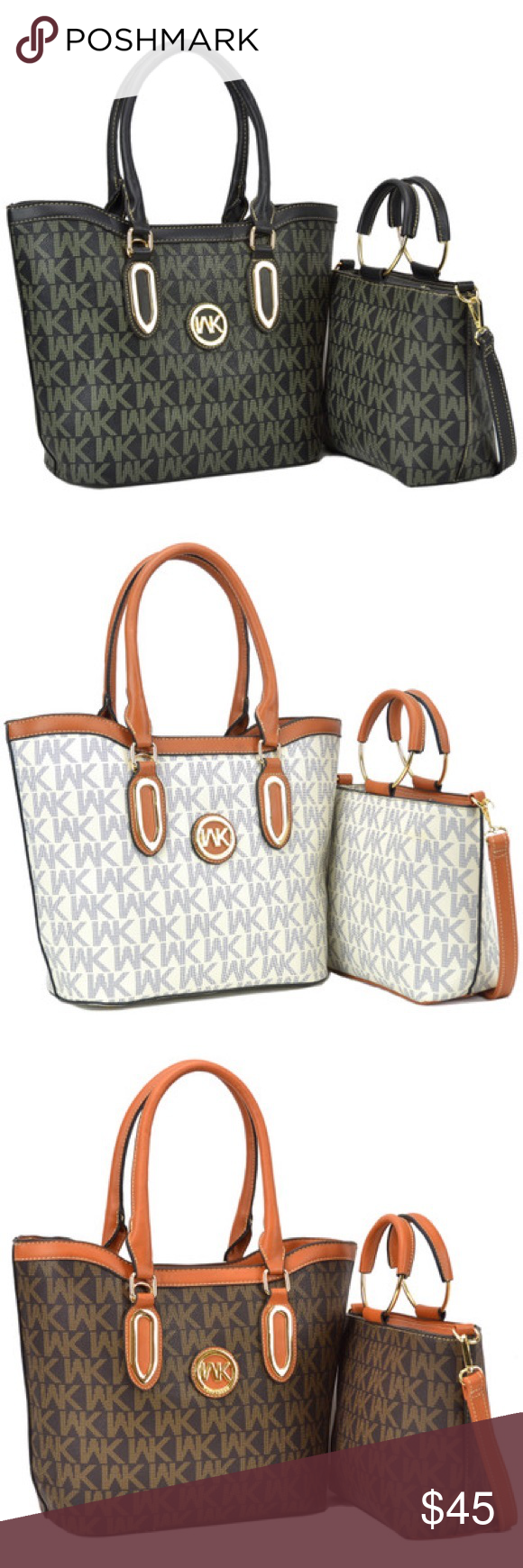 8ee0fba61b Wendy Keen Two-in-One Monogram Medium Tote Carry this roomy satchel by the  handles to the office, or use the shoulder strap which is perfect for  errand ...