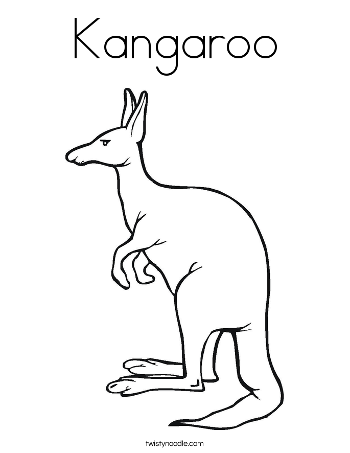 Free Kangaroo Picture To Color Download Free Clip Art Free Clip Art On Clipart Library Animal Coloring Pages Coloring Pages Colorful Pictures