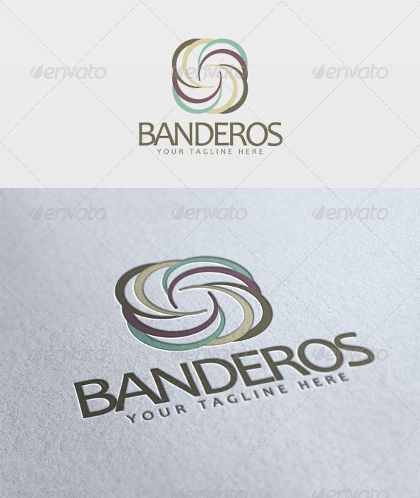Banderos Logo #GraphicRiver File: - PSD - Vector - CMYK
