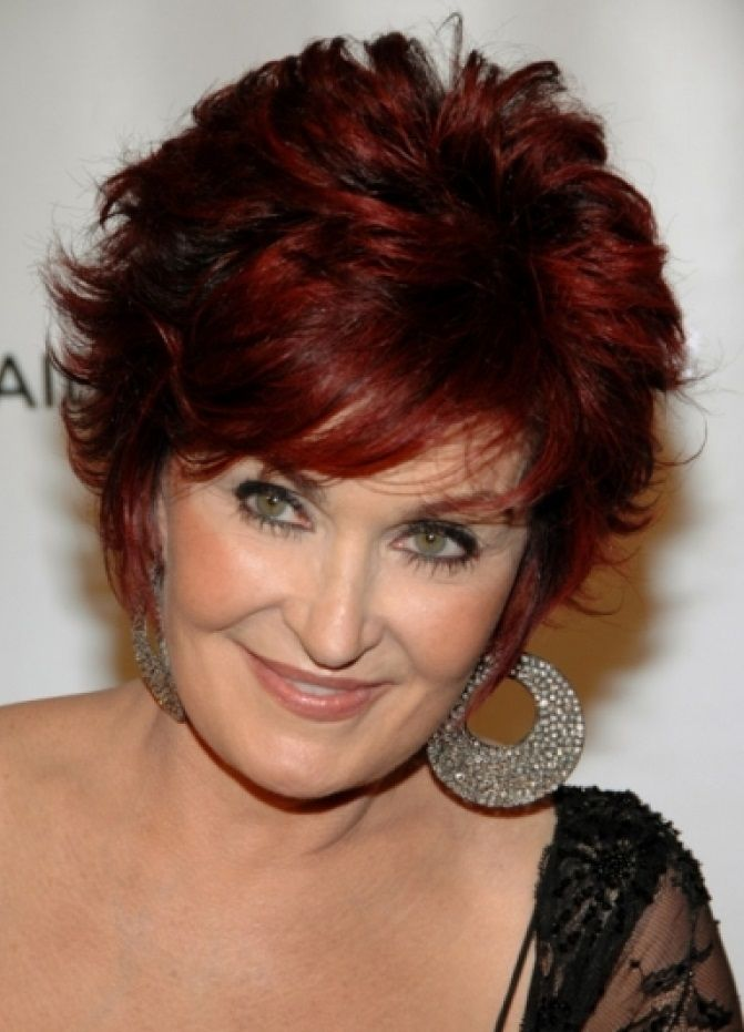 Hairstyles For Older Women With Double Chin Elle Hairstyles Short Hair Styles For Round Faces Medium Hair Styles Sharon Osbourne Hair