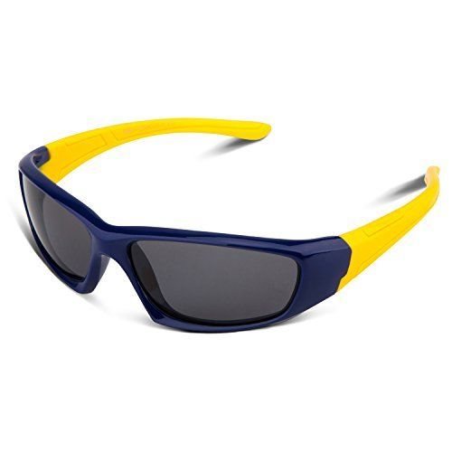 5654c994a50 RIVBOS RBK003 Rubber Flexible Kids Polarized Sunglasses for Baby and Child