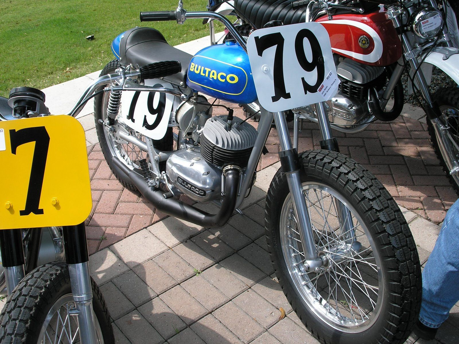 It a flat tracker extravaganza around here lately here s a nice old bultaco set up flat track style