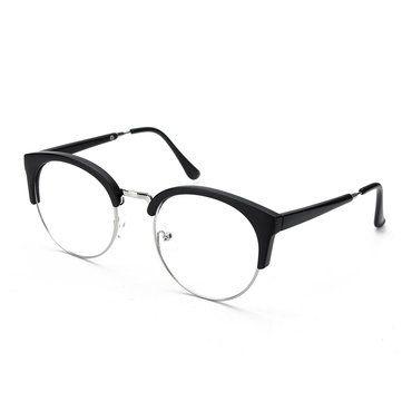 532b86c59085 Only US$6.29 , shop Women Vintage Nerd Glasses Clear Lens Eyewear Men Retro  Round Metal Frame Glasses at Banggood.com. Buy fashion Eyeglasses &  Sunglasses ...
